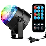 Disco Ball Disco Lights-COIDEA Party Lights Sound Activated Storbe Light With Remote Control DJ Lighting,Led 3W RGB Light Bal, Dance lightshow for Home Room Parties Kids Birthday Wedding Show Club Pub (Color: Second Generation)