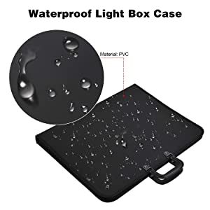 20Inch by 16Inch Carrying Bag Travel Storage Case A3 Light Tablet Cover with One Clip Protective Case for A3 Diamond Painting Light Pad Light Box