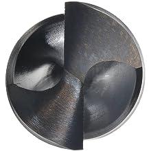 Cleveland 2410 High Speed Steel Taper Shank Drill Bit, Black Oxide, Morse Taper Shank, 135 Degree Split Point