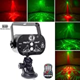 U`King Party Light Laser Lights with Battery Powered Mini Flash Strobe Light RGB LED DJ Disco Lights Projector by Sound Activated Remote Control for Stage Lighting Birthday Parties (Color: Laser Light-1, Tamaño: Small)