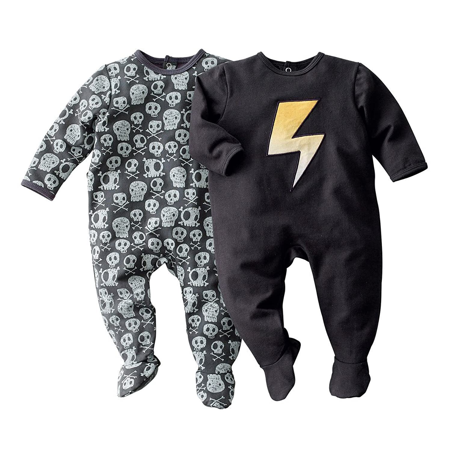 R Baby Little Boys Pack Of 2 Fleece Sleepsuits With Feet