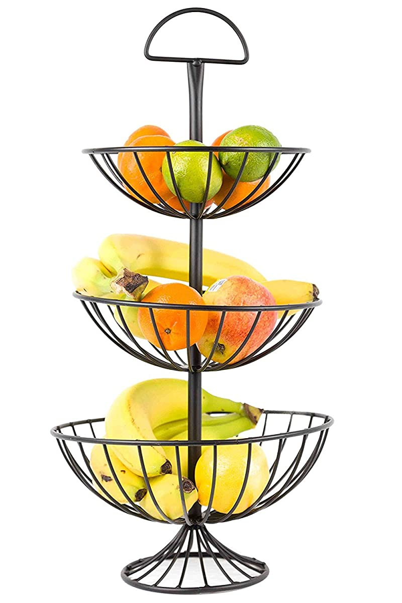 Useful UH-FB177 3 Tier Decorative Wire Fruit Basket Countertop Stand