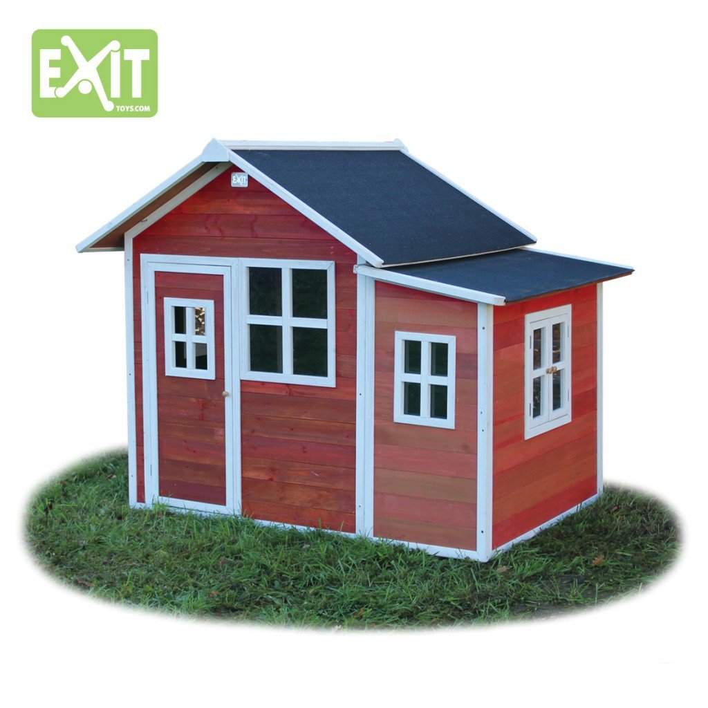 EXIT Loft 150 rotbraun / Spielhäuschen mit Tür + 5 Fenstern / Material: Zedernholz / Maße: 118 x 171 x 160 cm / 77,5 kg / für Kinder ab 3 günstig