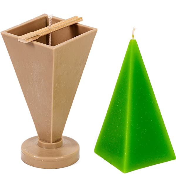 30 ft Candle Shop of wick included as a gift Pyramid mold width: 2.7 in Plastic candle molds for making candles height: 6.3 in