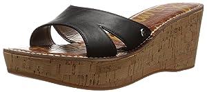 Sam Edelman Women's Reid Platform Sandal, Black, 8 M US