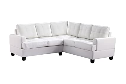 Glory Furniture G587B-SC Sectional Sofa, White, 2 boxes