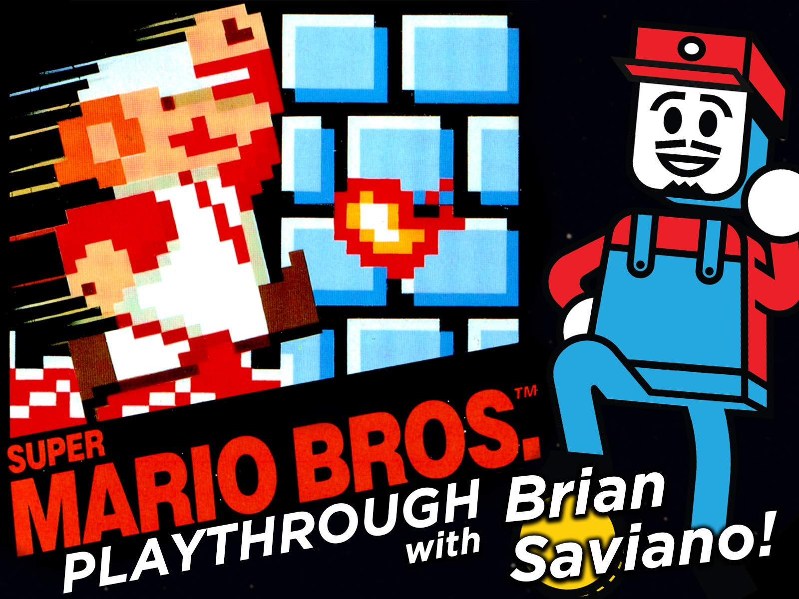 Clip: Super Mario Bros. Playthrough with Brian Saviano!