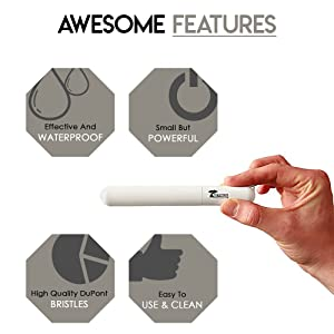 ToiletTree Products Pocket Size Travel Sonic Toothbrush (Color: White)