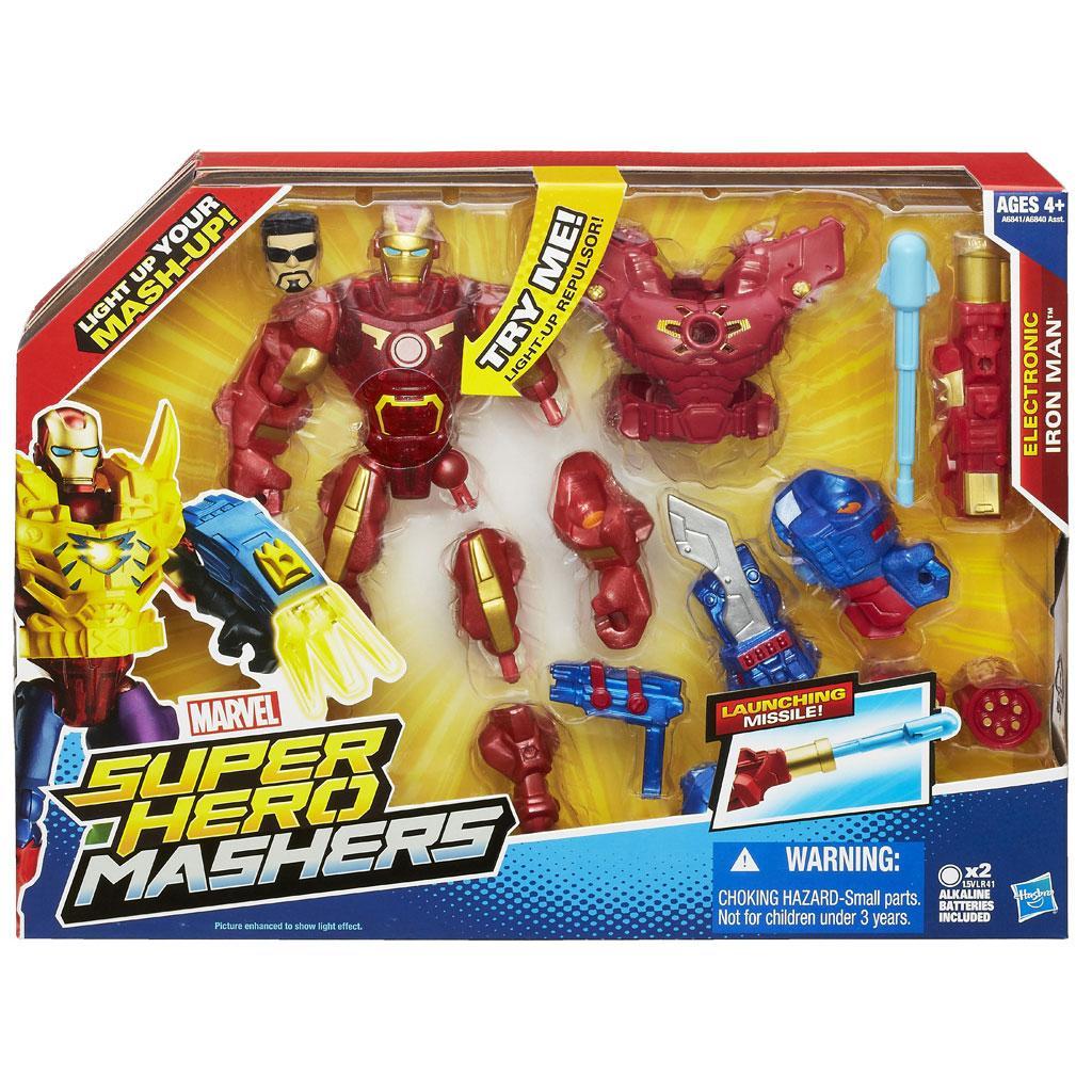 marvel super hero mashers electronic iron man figure toys games. Black Bedroom Furniture Sets. Home Design Ideas