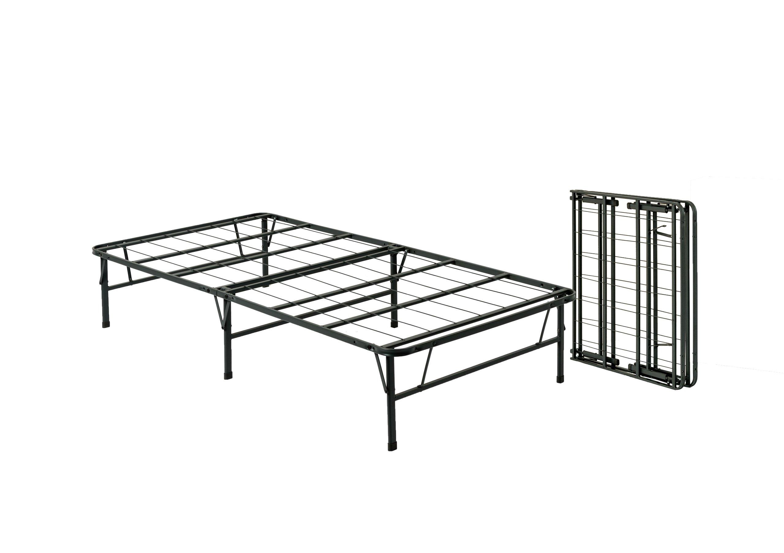 Pragma bed simple base bi fold bed frame twin twin ebay for Simple twin bed frame