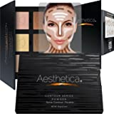Aesthetica Cosmetics Contour Kit - Powder Contour, Highlighter & Bronzer - Fair to Medium Skin Tones (Color: 6 Powders, Tamaño: Contour Kit - No Brush)