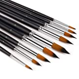 Watercolor Brushes - Artist Round Paint Brushes Set, 9 Different Sizes Detail Paint Brush for Watercolors, Acrylics, Inks, Gouache, Oil and Tempera - Free Painting Knife (Tamaño: Round - 9Pcs)
