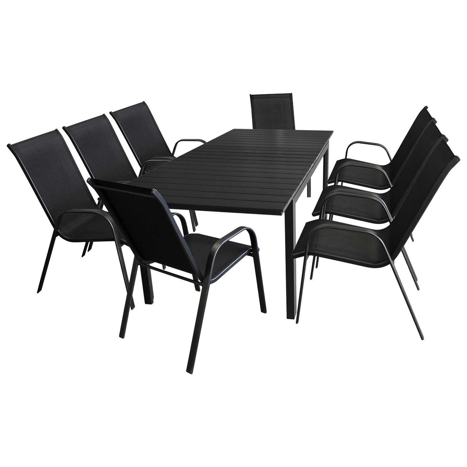 9tlg gartenm bel set aluminium ausziehtisch 160. Black Bedroom Furniture Sets. Home Design Ideas