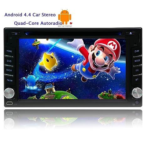 Eincar 6,2 pouces Android4.4 Head Unit Quad-core radio stšŠršŠo de voiture š€ Dash 2DIN šŠcran capacitif multi-touch voiture lecteur DVD avec Stereo Navigation GPS Radio FM Soutien commande au volant /
