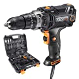 Hammer Drill,TACKLIFE PID04A Corded Drill Driver,620in-lb/70N.m Torque,20+1+1 Position Clutch,Paint And Mud Mixer,With 15 Drill Bits Set,Carrying Case,Liquid Horizontal Bubble-PID04A