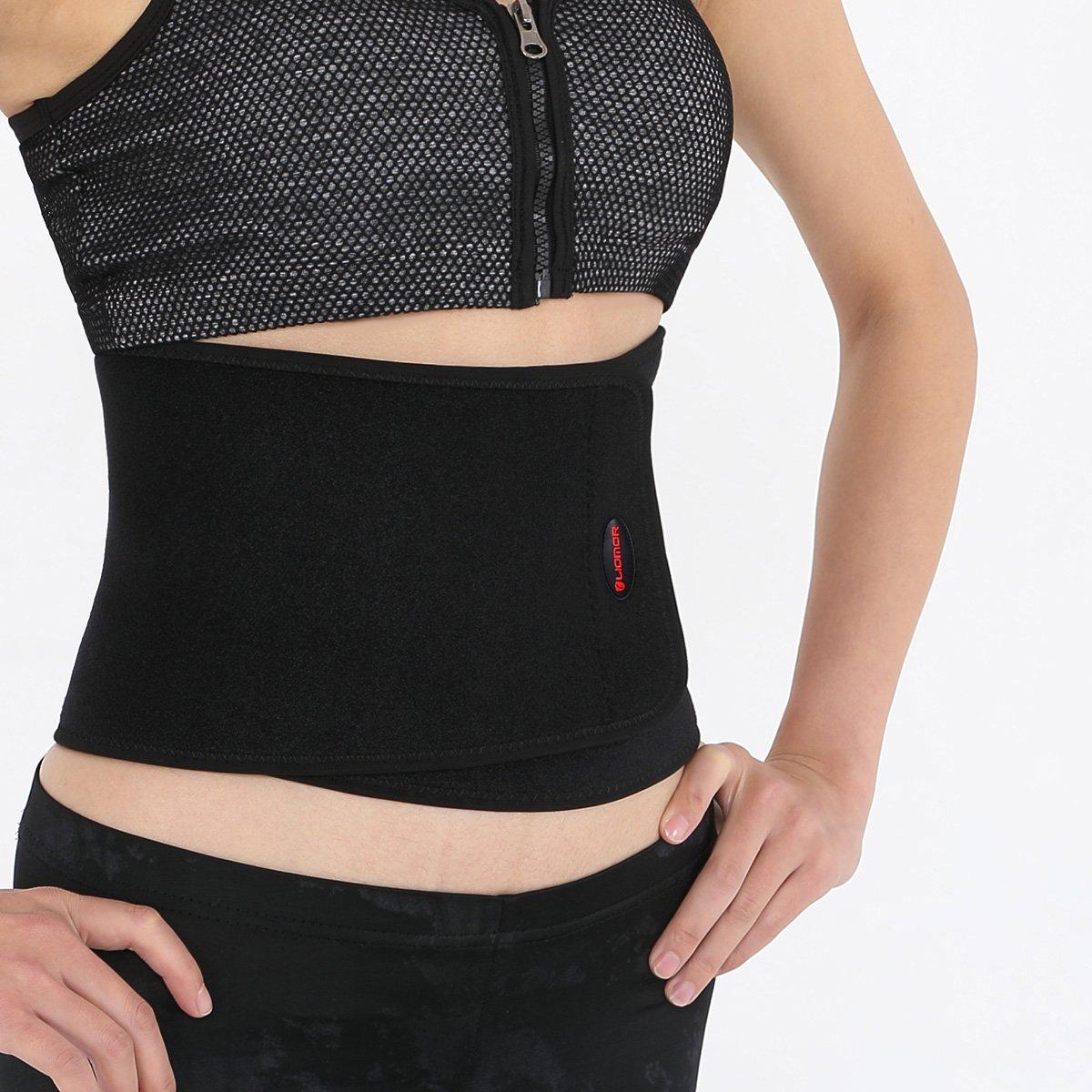 """Liomor Waist Trimmer Belt Waist Back Support Belt Weight Loss Belt for Men Women - One Size Fits Most ( 8.5"""" Width x 41"""" Length )"""