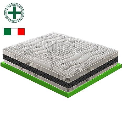 Materassiedoghe - Materasso in Memory Foam 7cm 11 zone differenziate alto 28cm mod. Deluxe MyMemory Certificato Presidio Medico Classe I CON DETRAZIONE FISCALE (80x190)
