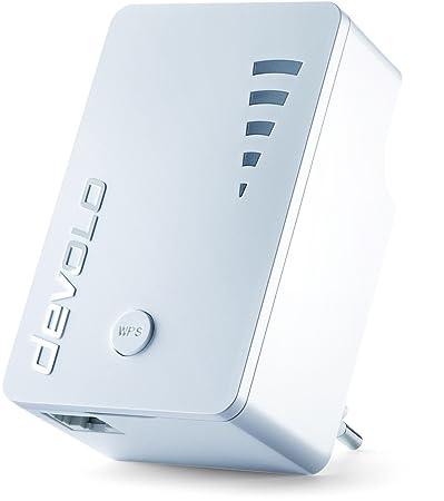 Devolo Répéteur Wi-Fi AC (1200Mbit/s, 1x port Gigabit Ethernet LAN, WPS WiFi répéteur amplificateur de signal, WiFi Extender, 5niveaux Jauge de force, fonction point d'accès, design compact) Blanc