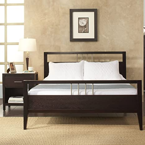Modus Nevis 2 Piece Platform Bedroom Set in Espresso