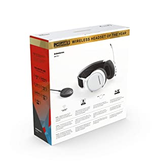 SteelSeries Arctis 7 (2019 Edition) Lossless Wireless Gaming Headset with DTS Headphone:X v2.0 Surround for PC and PlayStation 4 - White (Color: White, Tamaño: Arctis 7)