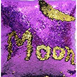 TRLYC Double Color 3 Yards Purple and Gold Reversible Sequin Fabric for Wedding Dress Reversible Sequin Pillow Fabric (Color: Purple and Gold, Tamaño: Three Yards)