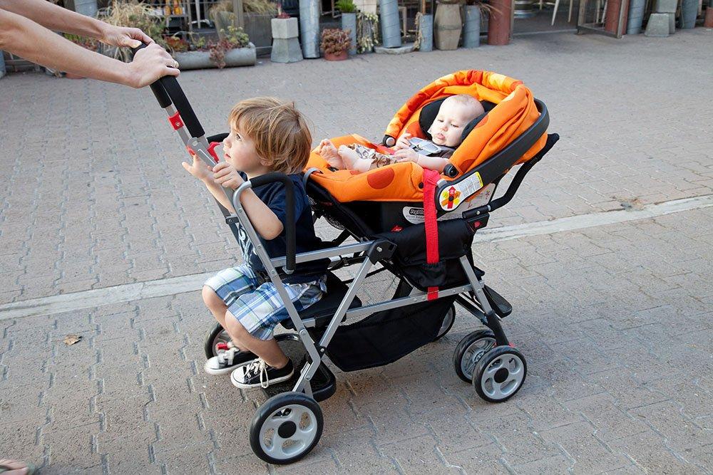 Joovy Caboose Stand On Tandem Stroller, Appletree