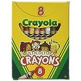 Crayola Multi-Cultural Crayons, Regular, Assorted Skin Tone Colors, 144 pack