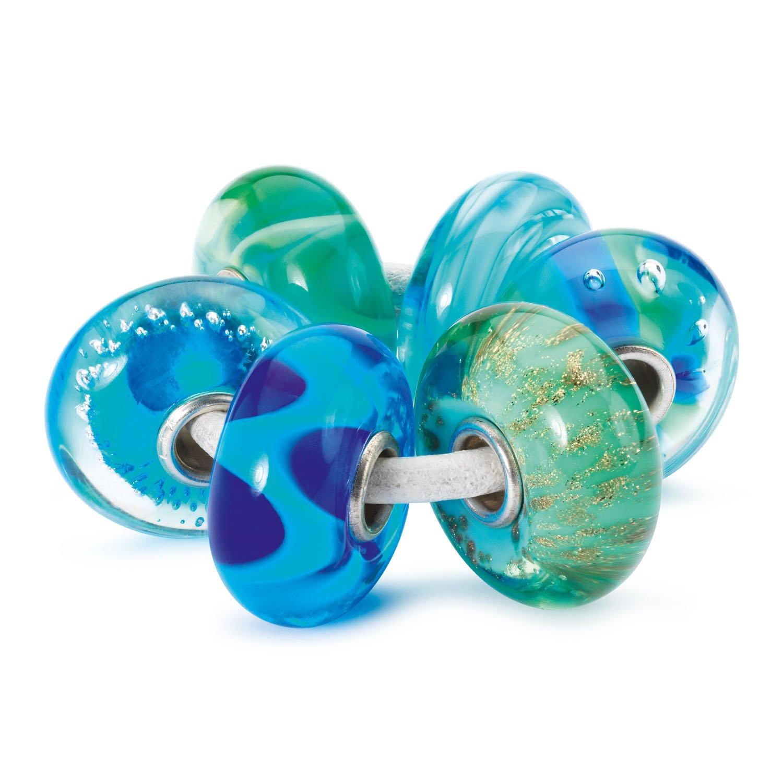 Trollbeads Damen-Bead Aqua Set 925 Silber – 63053 als Geschenk