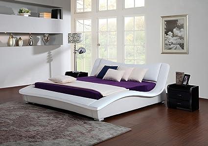 Bett HEAVEN Polsterbett weiß,weiß-schwarz, schwarz, schwarz-weiß, 140/160/200cm (160, weiß)