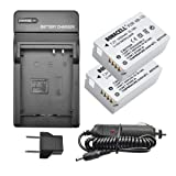 Bonacell NB-10L Battery and Charger Kit Compatible with Canon CB-2LC Charger and Canon PowerShot G1 X, G3 X, G15, G16, SX40 HS, SX50 HS, SX60 HS Digital Cameras(2 Pack (Tamaño: 2Pack and Charger)