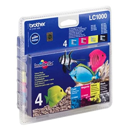 Brother Intellifax 1860 C (LC-1000 VAL BP) - original - Inkcartridge multi pack (black, cyan, magenta, yellow) - 400 Pages