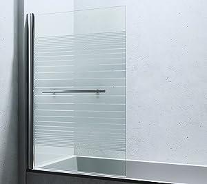 143x94 cm Design Duschabtrennung Cortona1122, 6mm ESGSicherheitsglas teilsatiniert, inkl. Nanobeschichtung, Badewannenfaltwand,  BaumarktKundenbewertung und Beschreibung
