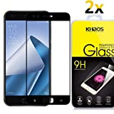[2 Pack] Khaos For Asus Zenfone 4 ZE554KL [Full Screen Coverage] HD Clear Tempered Glass Screen Protector with Lifetime Replacement Warranty -Black