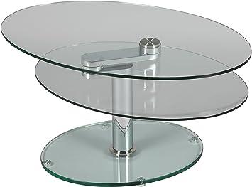table basse ovale ovale en verre cuisine maison z233. Black Bedroom Furniture Sets. Home Design Ideas