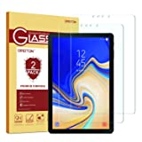 Samsung Galaxy Tab S4 Screen Protector [2 Pack], OMOTON Tempered Glass Screen Protector for Samsung Galaxy Tab S4 10.5 inch (SM-T830 / SM-T837 / SM-T835) (Color: Clear)