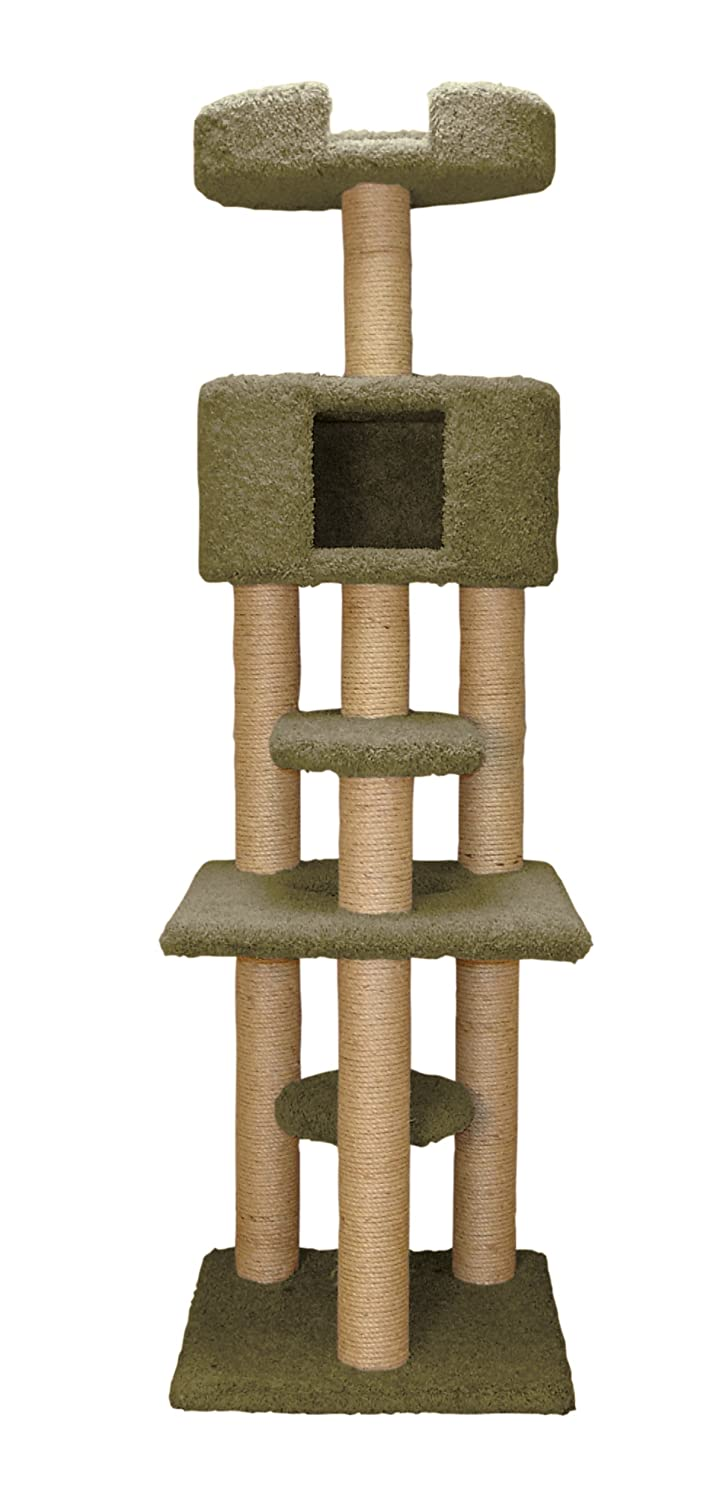 Family Cat Multi-Level Cat Tree with Condo and Sky Lookout авто 21124 за 200 т