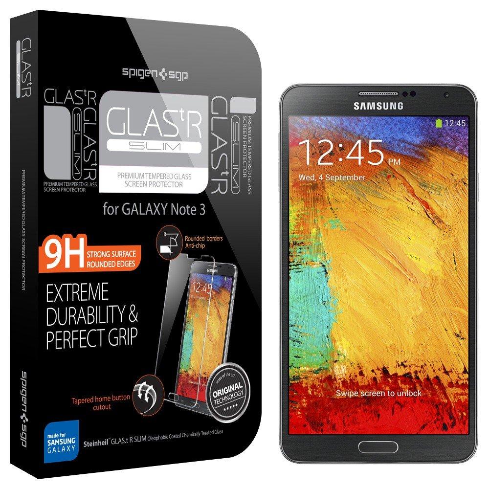 SPIGEN SGP Galaxy Note 3 シュタインハイル 強化ガラス液晶保護フィルム