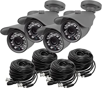 4-Pk. Best Vision 800TVL Security Camera Systems