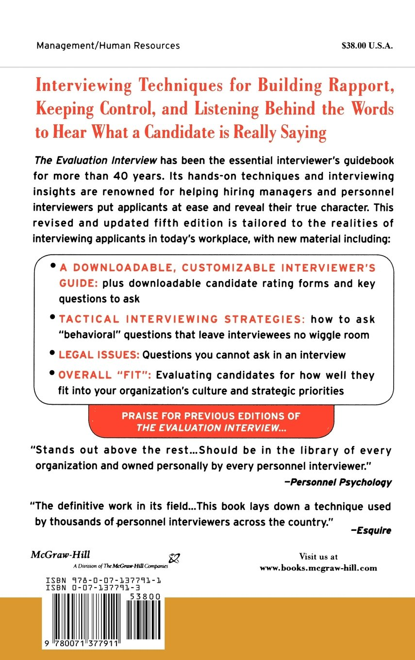 buy the evaluation interview how to probe deeply get candid buy the evaluation interview how to probe deeply get candid answers and predict the performance of job candidates general finance investing book