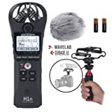Zoom H1n Handy Portable Digital Recorder Kit with Deadcat Windscreen, Shockmount, Camera Mount and Mic Grip