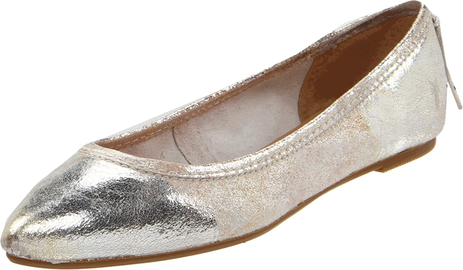 Frye Regina Ballet Flat - metallic pointy toe flat - pretty walking shoes