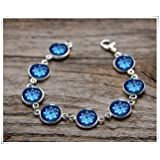 Blue Snowflake bracelet, Nordic blue, Christmas bracelet, Christmas Pattern, blue star