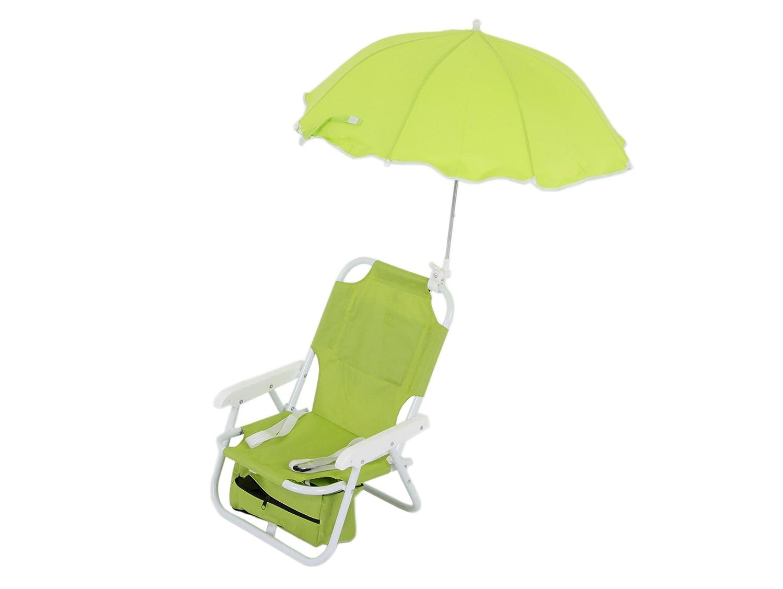 Dajar Liegen stuhl mit Sonnenschirm für Kinder, gelb