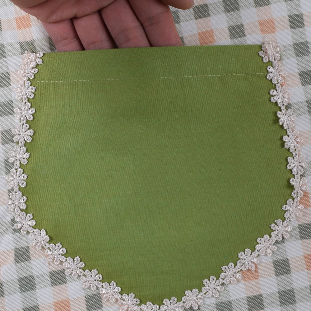 Cute Lovely unique design Women Girls Ladies Retro Apron with Chic Pocket for Cooking Kitchen, Green 3