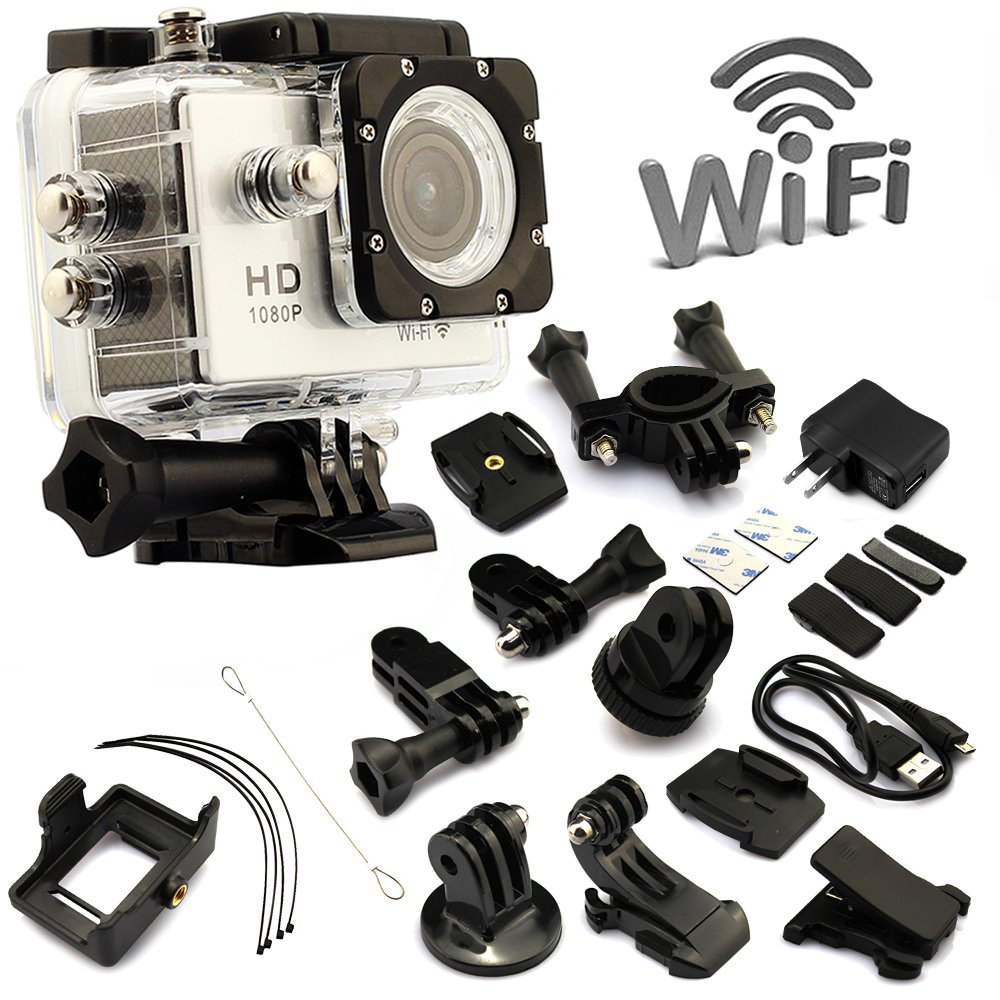 ANART® SJ4000 W8 WIFI Waterproof HD 1080P 12MP 170 Degree Sports DV Video Action Camera Camcorder White