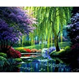 NEILDEN DIY Diamond 5D Embroidery Paintings Rhinestone Pasted DIY 30x40cm Christmas Painting Cross Stitch (Color: Big Willow)