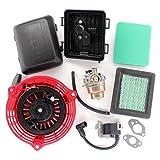 AISEN Carburetor for Honda 28400-ZL8-023ZA 17231-Z0L-050 17220-ZM0-030 17211-ZL8-023 17211-Zl8-003 17211-Zl8-000 16100-Z0L-023 16100-Z0L-853 Air Filter Cover Case Ignition Coil Recoil Starter