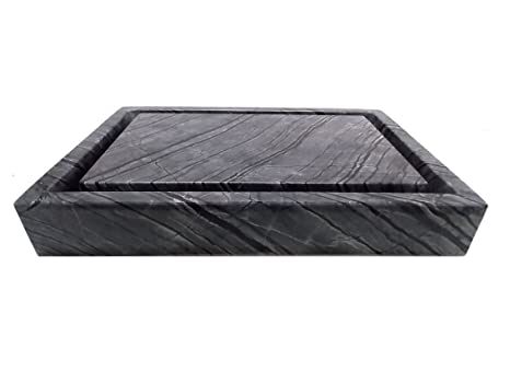 Rectangular Infinity Pool Sink - Wooden Black Marble