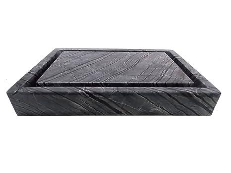 Rectangular Infinity Pool Sink - Wooden Black Marble