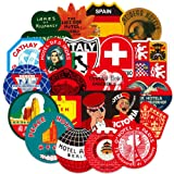 Ratgoo 100 Pcs Waterproof Graffiti Stickers for World Famous Tourism Country & Regions Logo Graffiti Stickers for Computer MacBook Laptop Phone Water Bottle Car Bike Motorcycle Helmet Bumper Luggage (Color: Tourism)